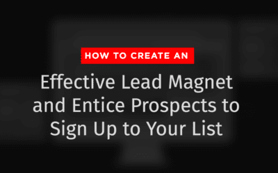 How to Create an Effective Lead Magnet and Entice Prospects to Sign Up to Your List