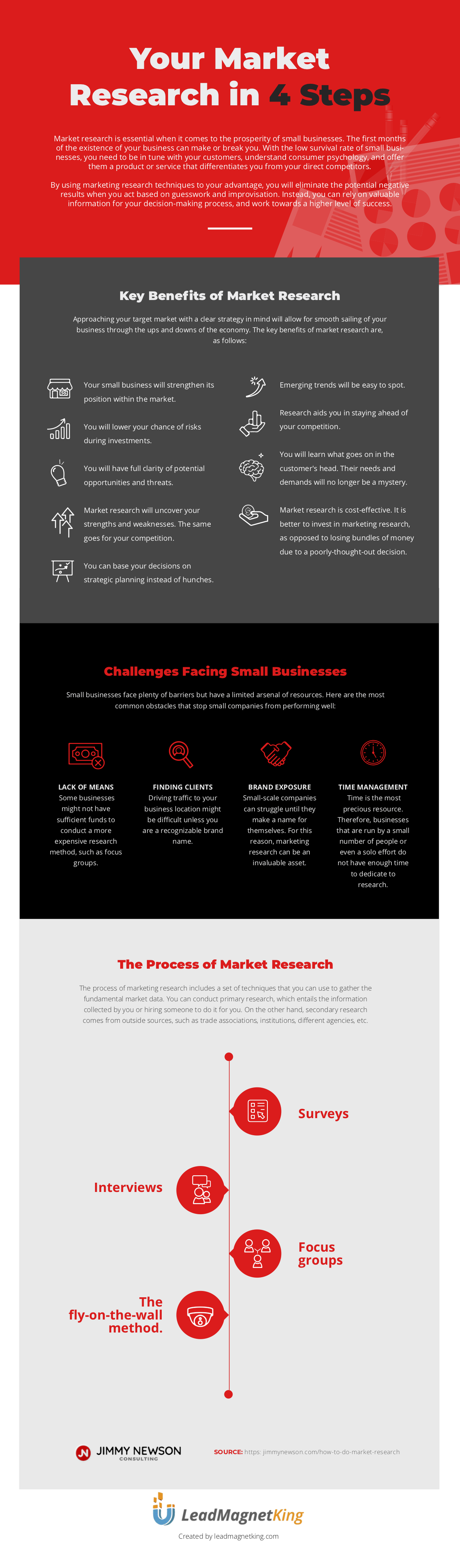 Your Market Research in 4 Steps Infographic - Jimmy Newson Consulting