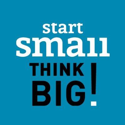 Start Small Think Big Blue Square Logo